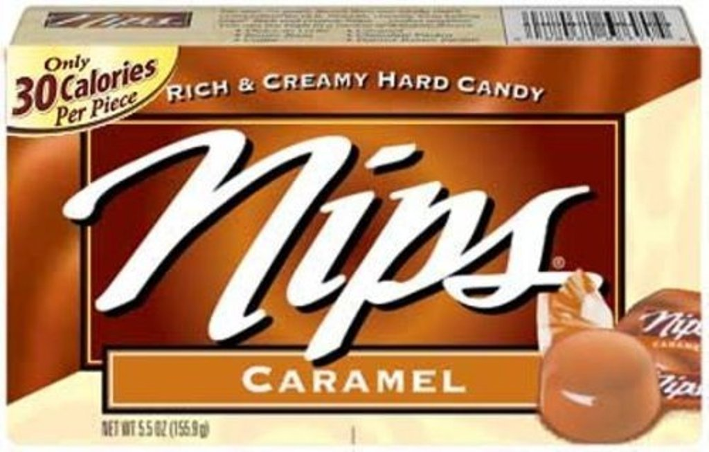 Nips Caramel Candy, 4Ounce Boxes (Pack of 12)