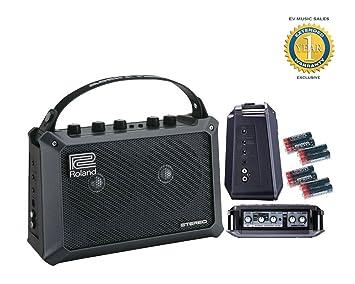 Roland Cubo móvil de la batería del amplificador estéreo con alimentación y 8 Libre Universal Electronics