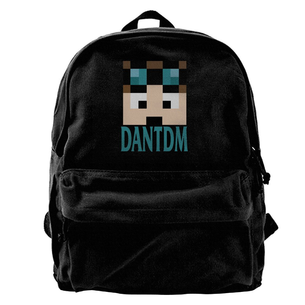 Nndog Minecraft Daniel Middleton DanTDM Face Unisex Canvas Backpack Travel Bag School Bag BVDGSAX