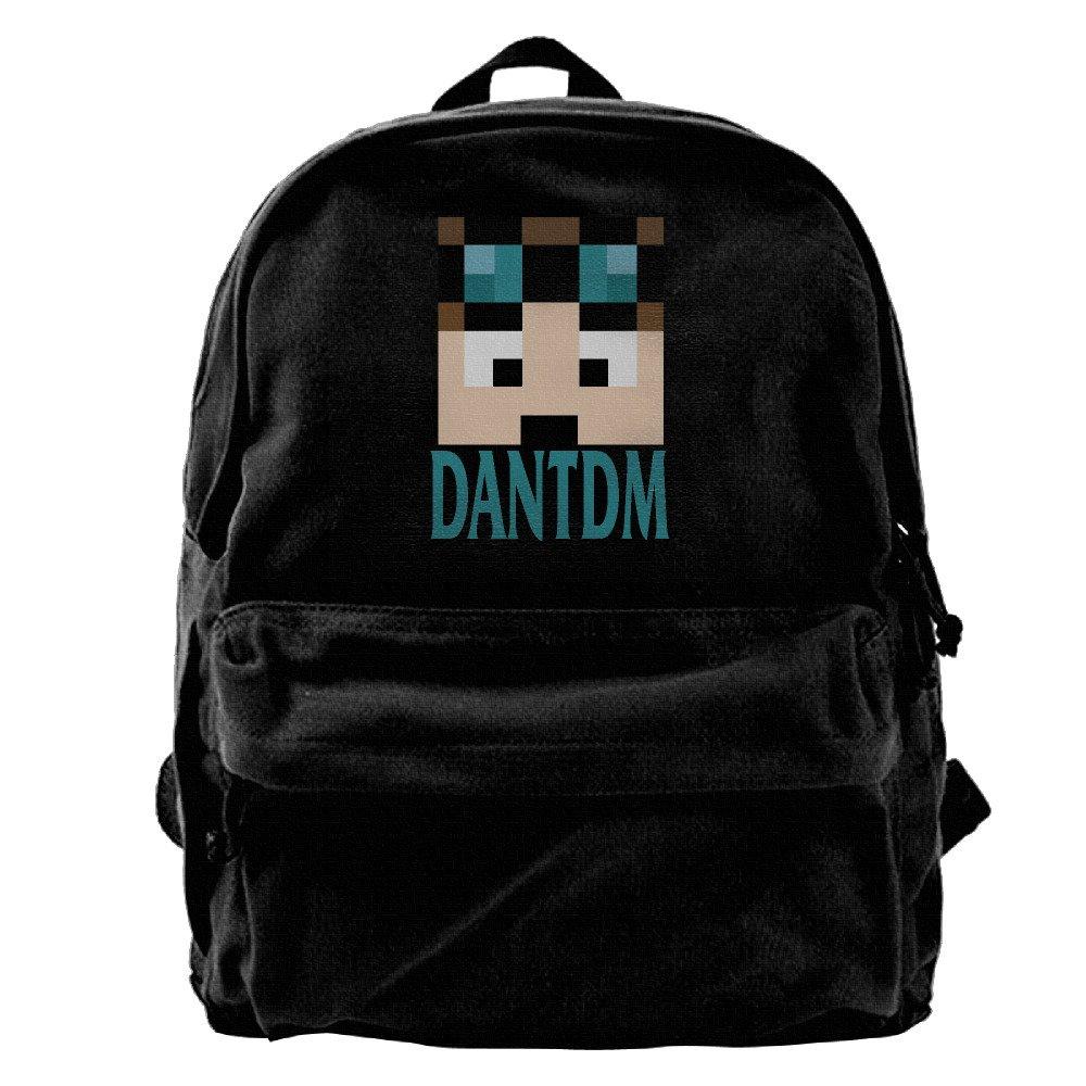 One Size Nndog Minecraft Daniel Middleton DanTDM Face Unisex Canvas Backpack Travel Bag School Bag