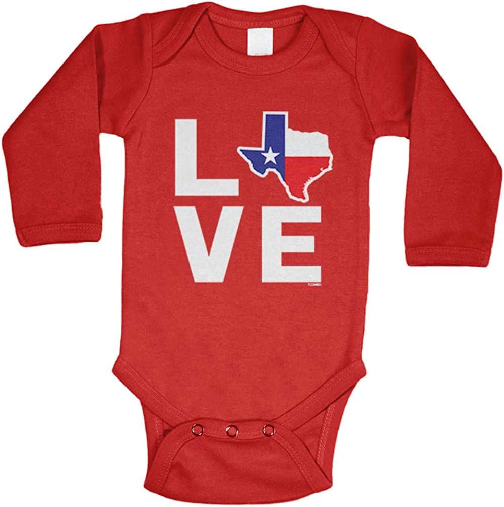 Tcombo Love Texas Map Bodysuit