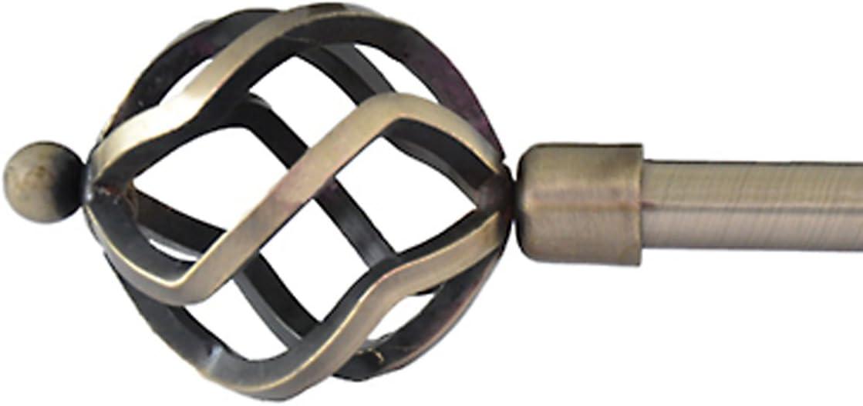90-160 cm Sferico DEBEL Asta per Tenda Bianco//Oro