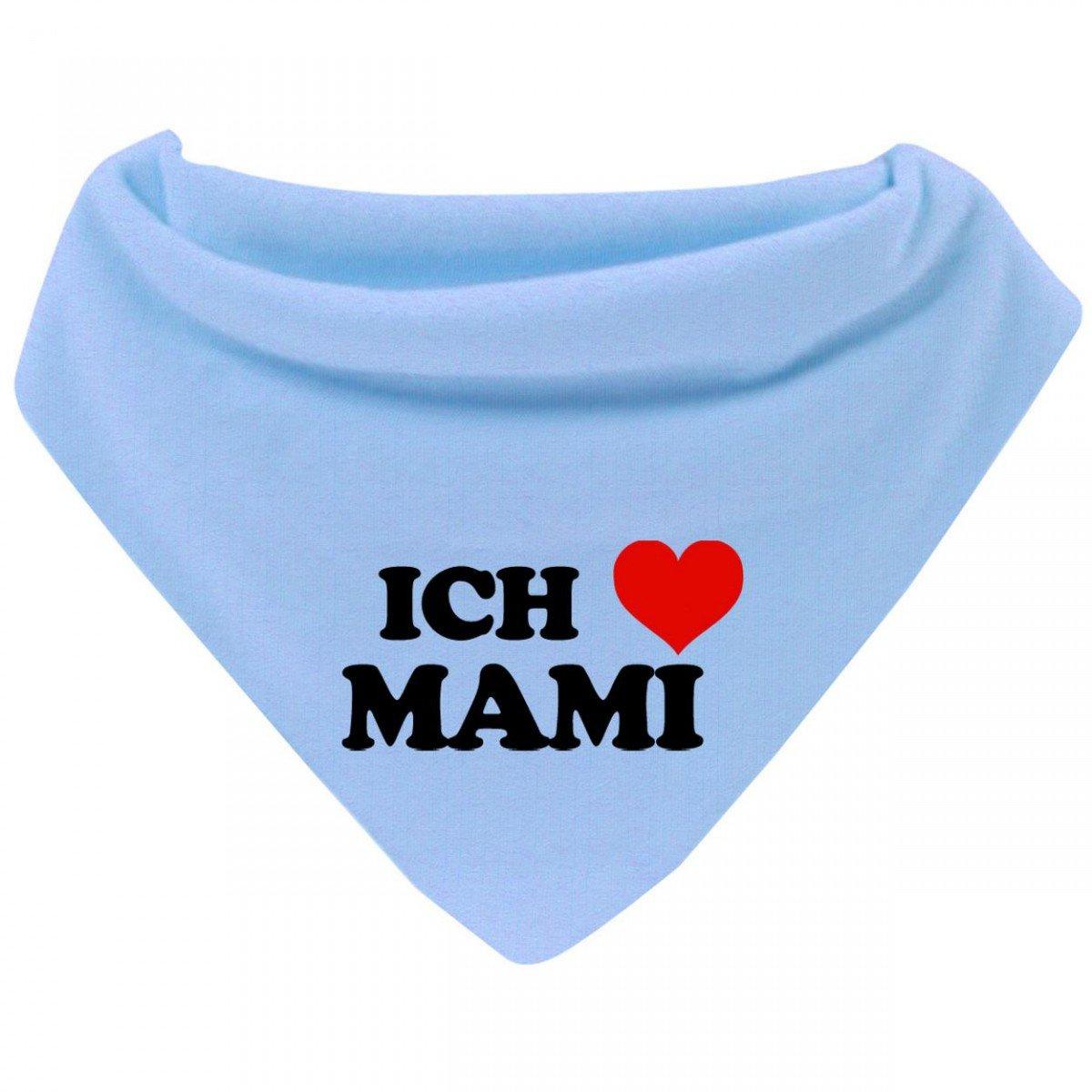 Mikalino Baby Halstuch Bandana Ich liebe Mami mit Klettverschluss Farbe:cream