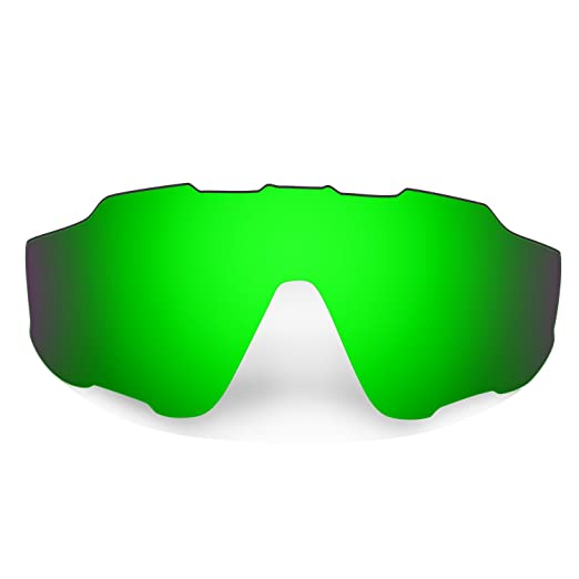 789e302aa0 Amazon.com  Hkuco Mens Replacement Lenses For Oakley Jawbreaker 24K Gold Emerald  Green Sunglasses  Clothing