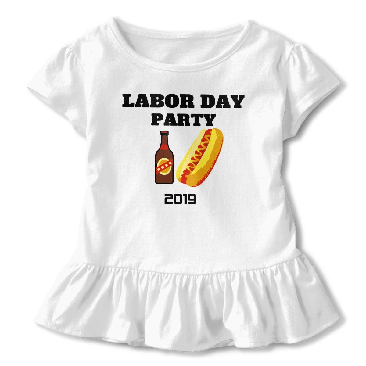 SC/_VD08 Labor Day Party Kids Children Short Sleeve Shirt Top/&Tee