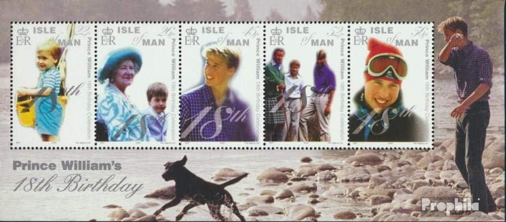 Timbres pour Les collectionneurs 2000 18 GB Chien /Île Homme Bloc 41 Anniversaire de Prince William compl/ète.Edition.