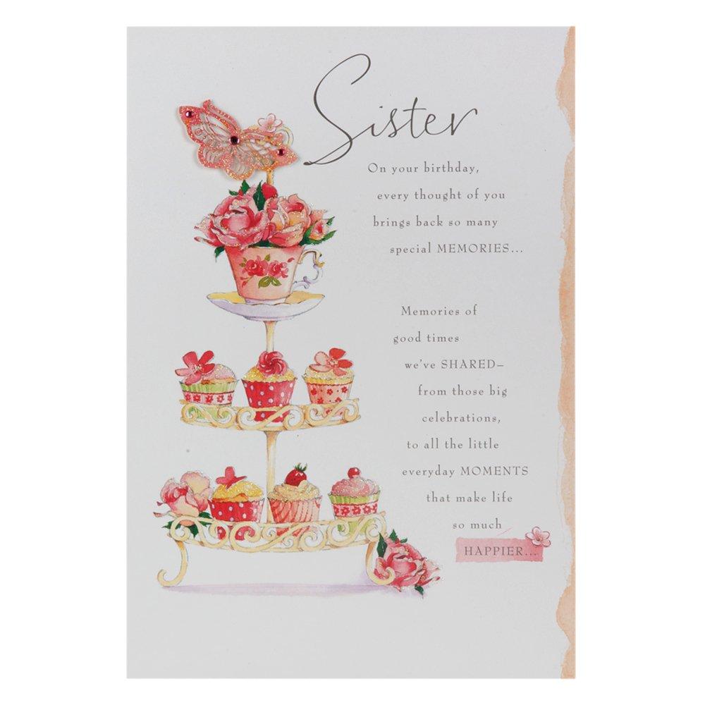 Super Hallmark - Biglietto per auguri di compleanno per la sorella, con  BI74