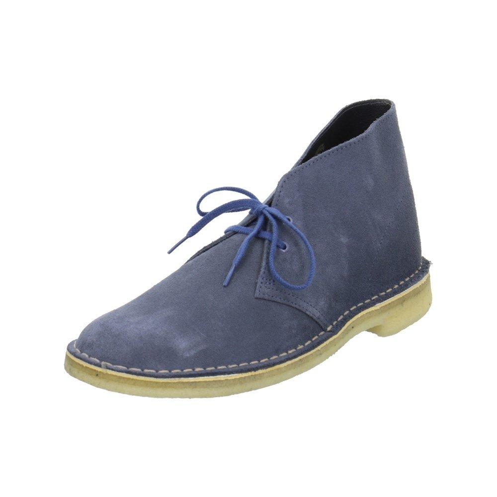 Clarks Originals Desert Boot  Herren Desert Boots Kurzschaft Stiefel  Stiefeletten Grau (Wolf Suede) Blau