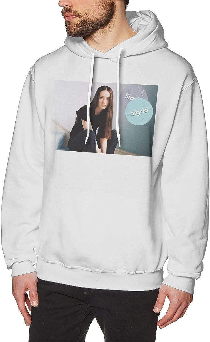 Mens Hoodie Sweatshirt Si-Grid Sweater Black