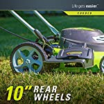 Greenworks g-max 40v 20-inch cordless 3-in-1 lawn mower with smart cut technology, (1) 4ah battery and charger included mo40l410 23 includes (1) max capacity 4 ah - 40v lithium battery , cutting heights - 5 position durable 20'' steel deck lets you mulch, bag, or side discharge allowing you to maintain your yard the way you want it. This lawn mower is not self-propelled innovative smart cut technology automatically increases the speed of the blade when more power is needed