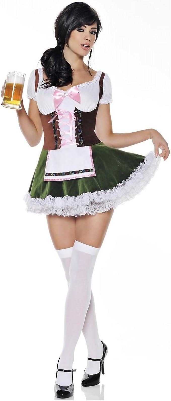 Amazon.com: Mystery House de la mujer Cerveza Chica Disfraz ...