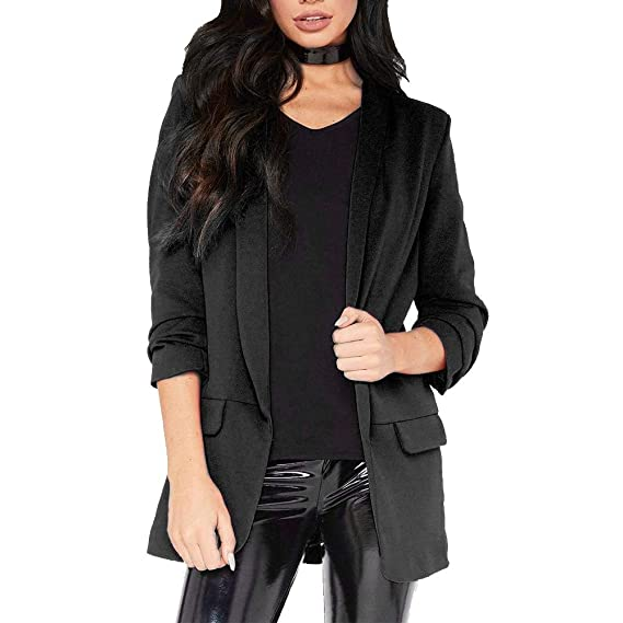 91948473a Walaka Femme Veste De Tailleur Blazers Costume OL Style Manches ...