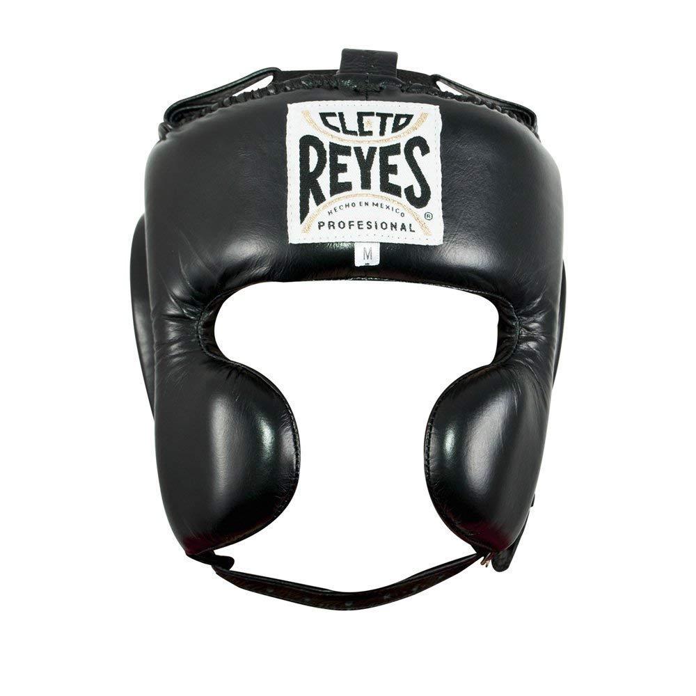 Cleto Reyes Cheek保護ボクシングヘッドギア – ブルー B00G08H5L8 ブラック Large