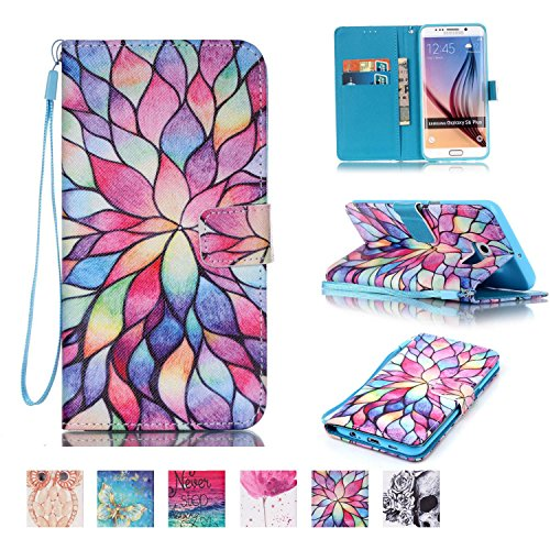 (Galaxy S6 Edge Plus Case, Firefish [Kickstand] Flip Folio Wallet Cover Anti-Scratches Protective Shell with Cards Slots Magnetic Closure for Samsung Galaxy S6 Edge Plus)