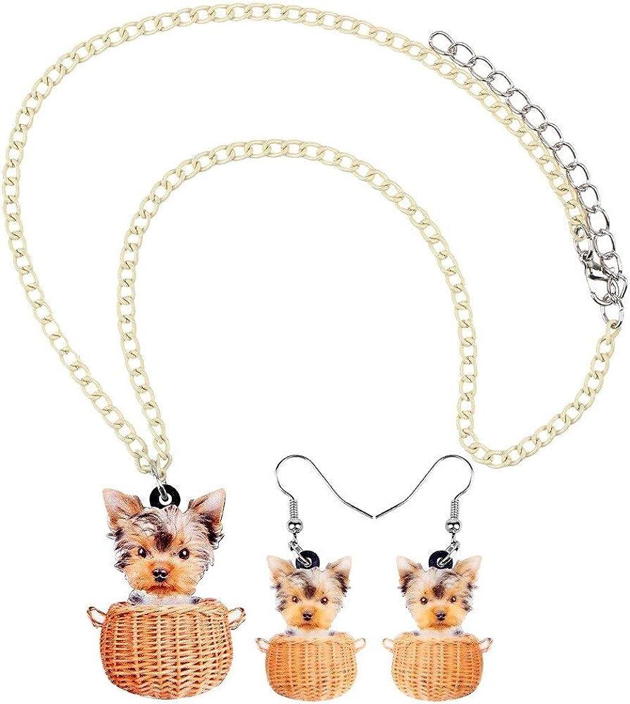 Yorkshire Visage De Chien Amoureux Des Animaux Charms Et Perles Pour Femme Ados En Argent Bracelet Europ/éen Unique