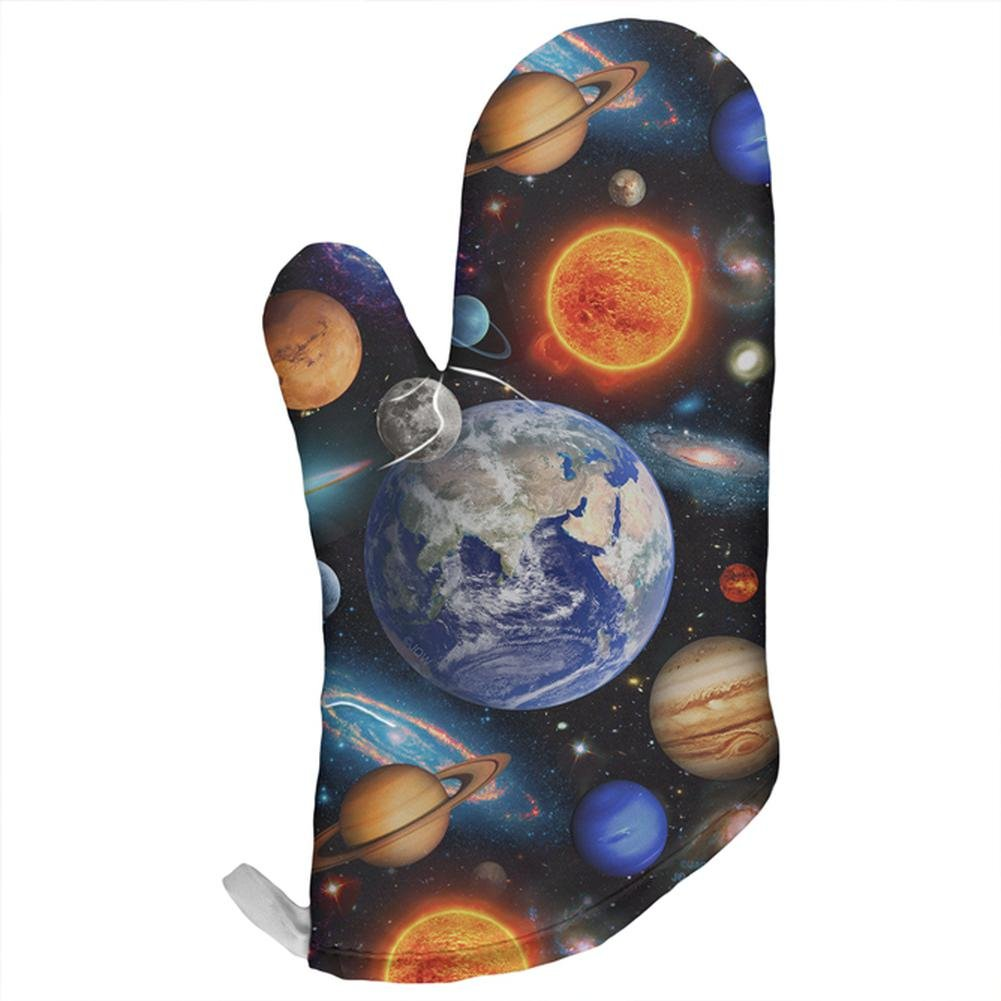 Old Glory Galaxy Solar System All Over Oven Mitt Multi Standard One Size