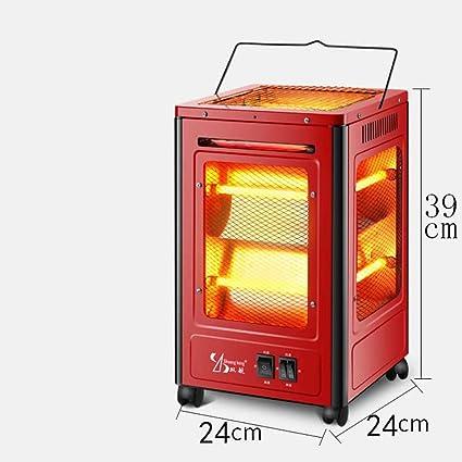 Heating Calentador de Cinco Lados, Estufa Al Horno Tipo Barbacoa, Ventilador Eléctrico de Cuatro