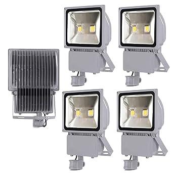 Leetop 5X 100W Blanco Frío LED Foco Proyector Luz, Foco Proyector ...
