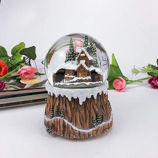 Caja De Música Bola De Cristal Caja De Música Giratoria Navidad ...