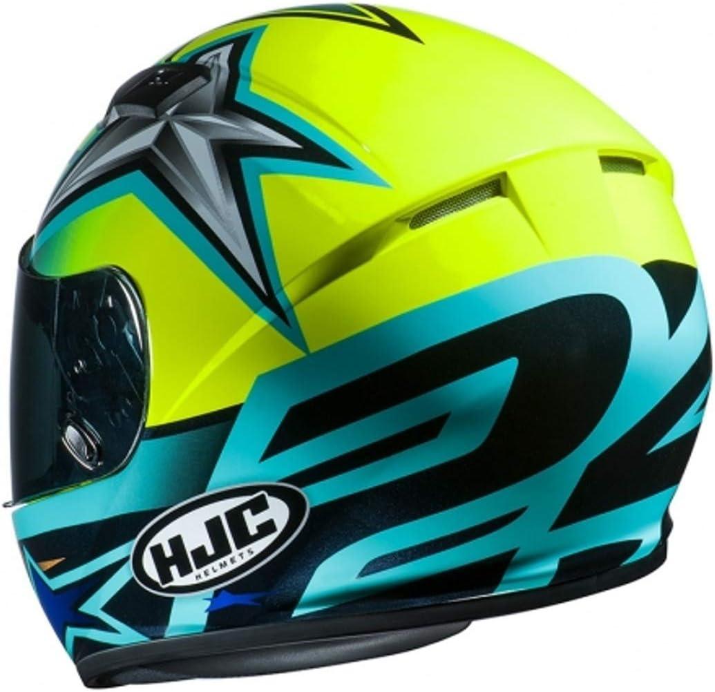 Jaune//Noir//Bleu XS Casque moto HJC CS 15 TONI ELIAS 24 MC4H