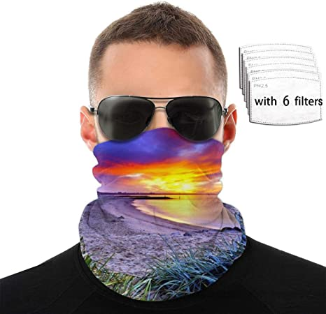 Psunrise Funny Printed Face Bandanas,Reusable Comfy Face Scarf Breathable Cycling Outdoor Mouth Bandanas