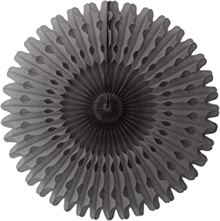 product image for 3-Pack 26 Inch Extra-Large Honeycomb Tissue Paper Party Fan Decoration (Gray)