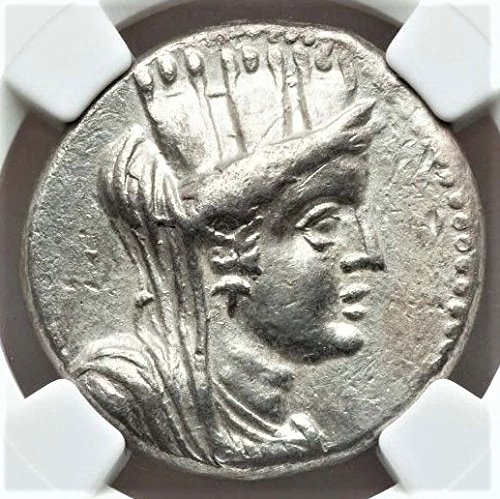 Coin Ancient Greek Silver Tetradrachm - GR 56/5 BC Ancient Greece Antique Silver Greek Coin AR Tetradrachm Choice Extremely Fine NGC