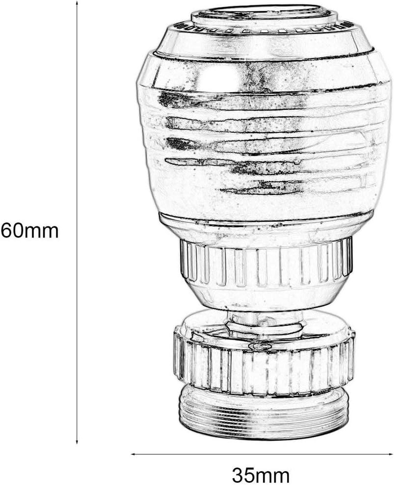 360 Boquillas giratorias de grifo giratorio Boquilla Adaptador de filtro Grifo de ahorro de agua Aireador Difusor Accesorios de cocina color: negro