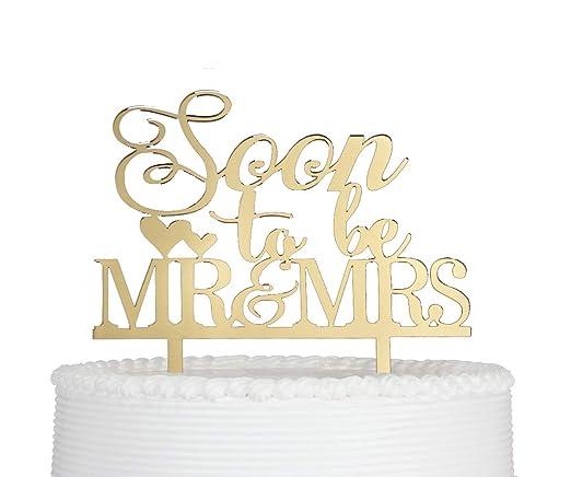 Amazon.com: Decoración para tarta de boda o compromiso ...