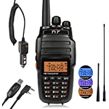 TYT UV8000E 10W High Power Dual Band VHF UHF Two-Way Radio Ham Walkie Talkie with Cross-band Repeater Function & 3600mAh Battery Transceiver, with Car Charger, 2 Antennas, Cable