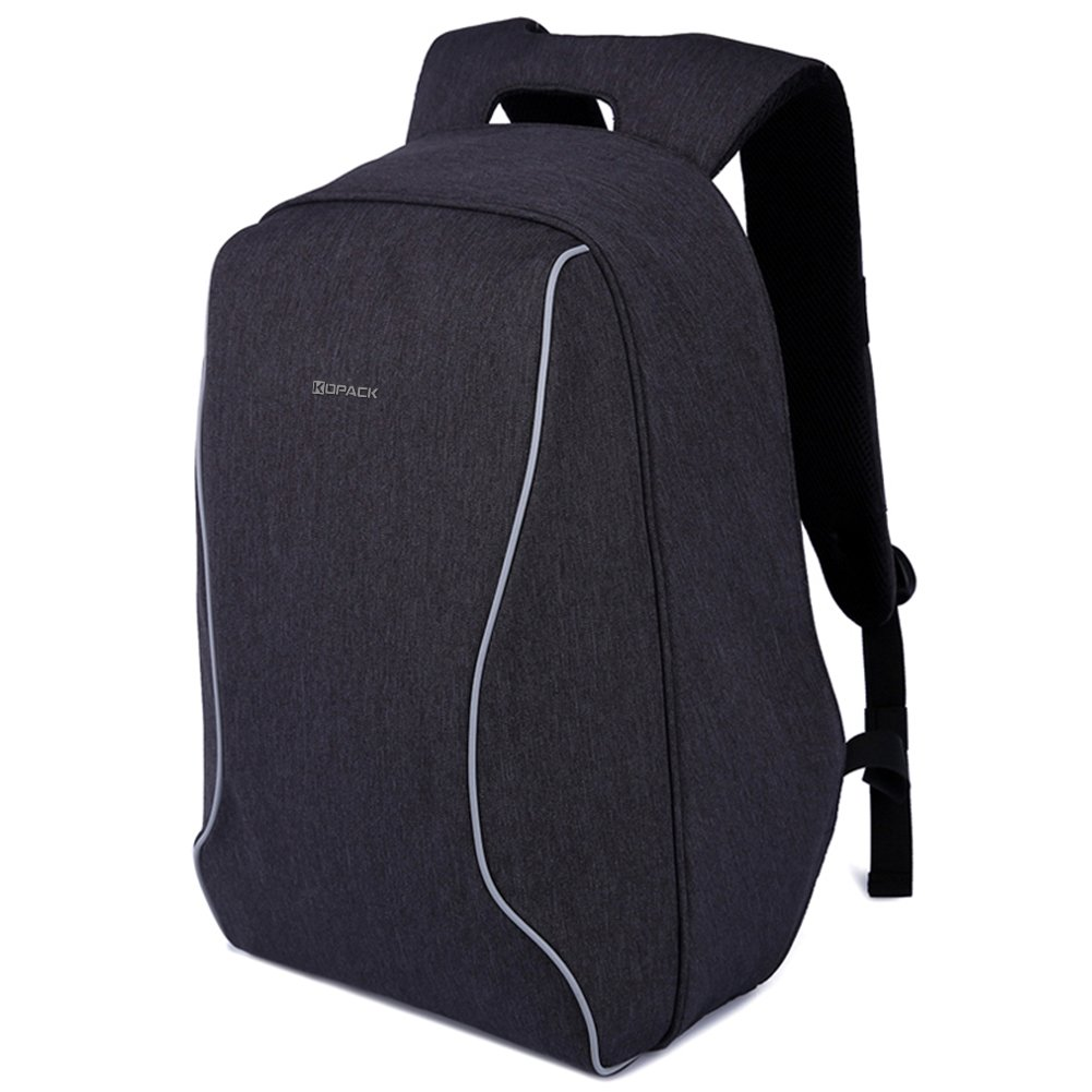 (コパック) Kopackラップトップバックパック 17インチ 耐衝撃 盗難防止 軽量 ScanSmart TSAフレンドリー 防水仕様 B01IGNU0IY Medium|ブラック ブラック Medium