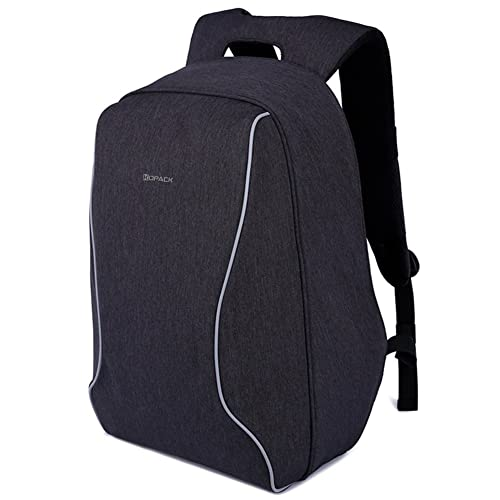 Kopack Anti Theft Travel Backpack Laptop Back Pack Lightweight ScanSmart TSA Friendly Cool Black for up to 16 most 17 inch