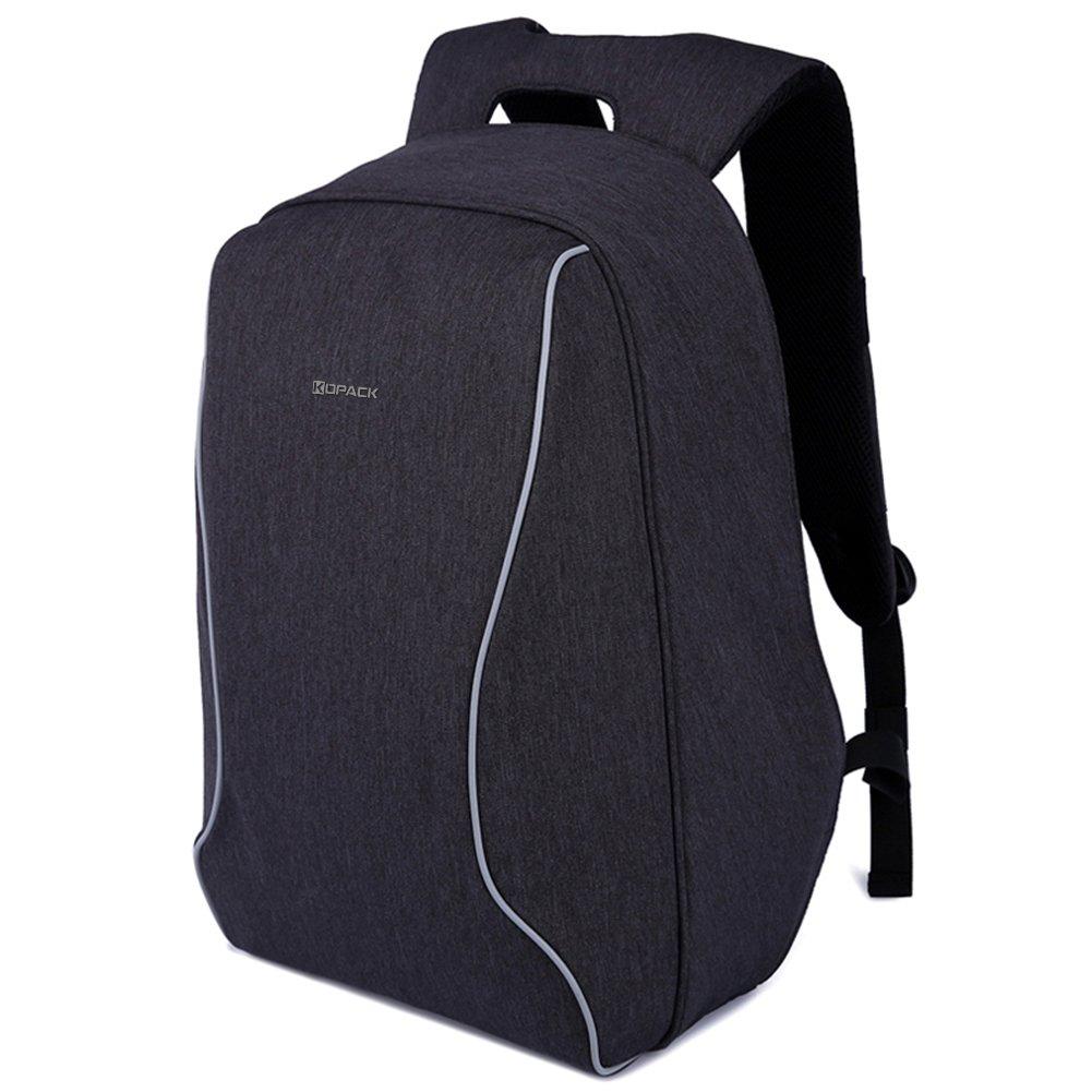 KOPACK Anti Theft Travel Backpack Lightweight Laptop Bag Scan Smart Checkpoint Friendly Black 17 Inch