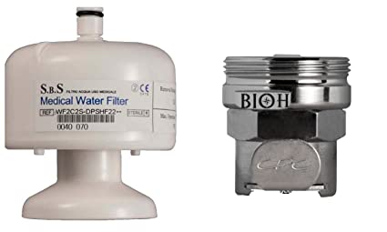 Filtro terminale anti legionella docce e doccette con raccordo per