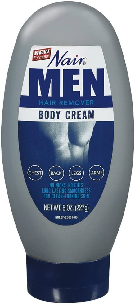 Nair Hair Remover for Men, Body Cream, 8 oz.