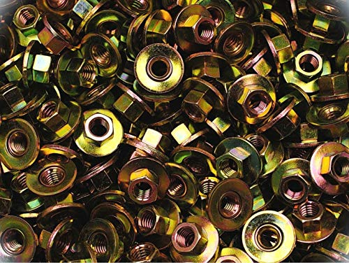 150 PCs Conical Washer Nuts 3/8-16 Free-Spinning Yellow Zinc Plated 1