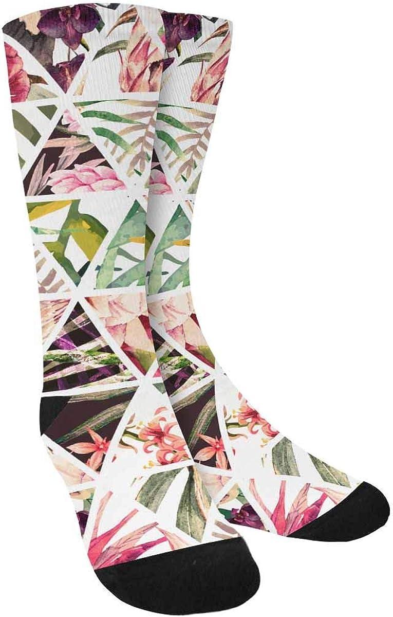 Adult Watercolor Effect Pattern Athletic Crew Socks
