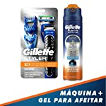 Gillette Rastrillo Fusion Proglide Styler 3en1 + Gel Para Rasurar Hidratante 200ml, Pack of 1
