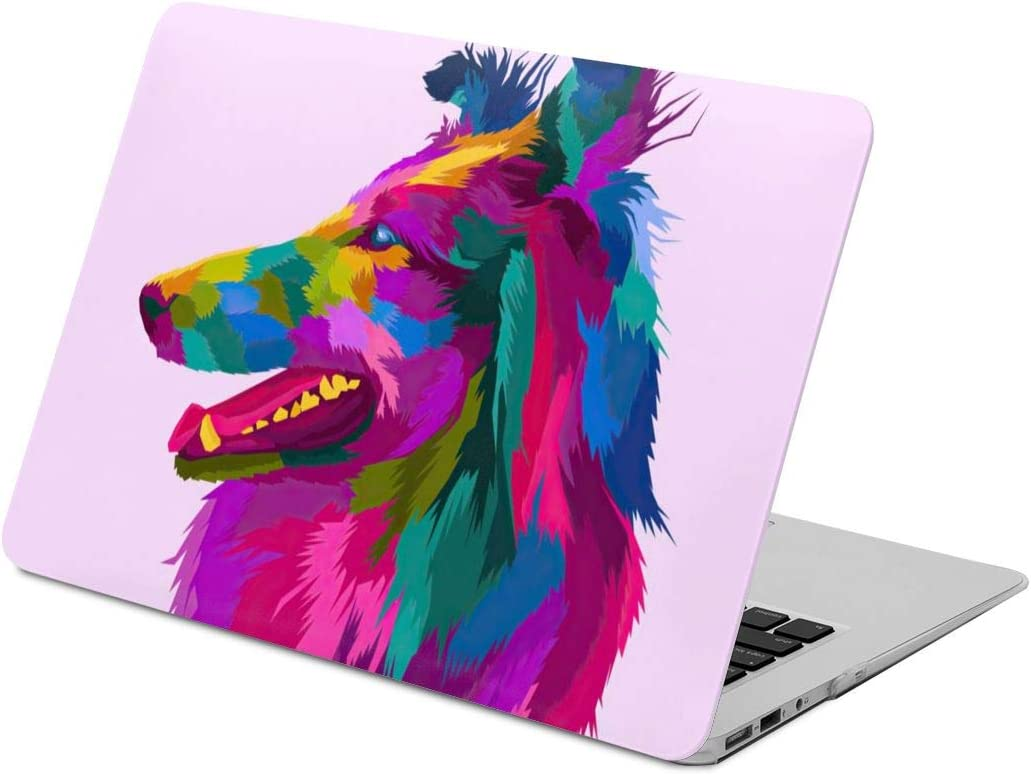 Pink Dog Laptop Case Scratch Resistan Laptop Case Cover Fashion Fully Protect Computer Plastic Case Hard Shell Cover Laptop Sleeve Case for air13