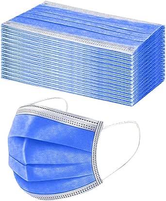 TEGT 50 stuks wegwerp-mondbescherming, uniseks, gezichtsbescherming, neusbescherming, zijde, ademend, antibacterieel, zonwering, koude- en stofdicht, hoge filtratie