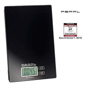 Pearl Digital Báscula de cocina: Digital Báscula de cocina, hasta 5 kg, pantalla