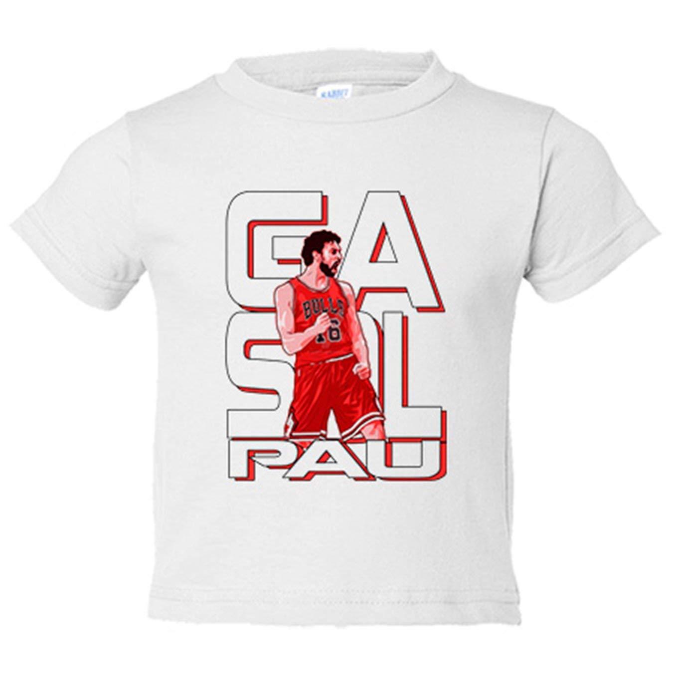 Camiseta niño Pau Gasol leyenda del baloncesto - Blanco, 3-4 años: Amazon.es: Bebé