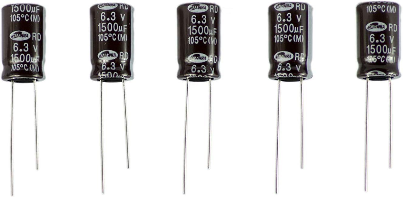 5 Stück Elko 1500µf 6 3v Kondensator Elkos Elektronik