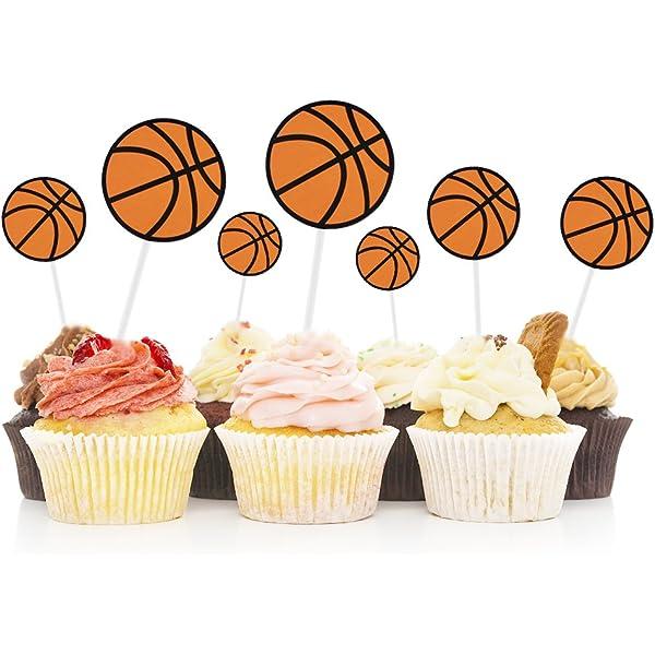 Swell Amazon Com Hokpa Basketball Cupcake Toppers Cake Fruit Food Funny Birthday Cards Online Benoljebrpdamsfinfo