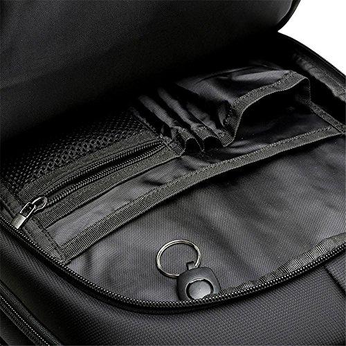 NIHE Alta capacidad de hombro del bolso negro los hombres y las mujeres bolso de la computadora negocio de la moda bolsa de viaje de ocio al aire libre de los hombres schoolbag