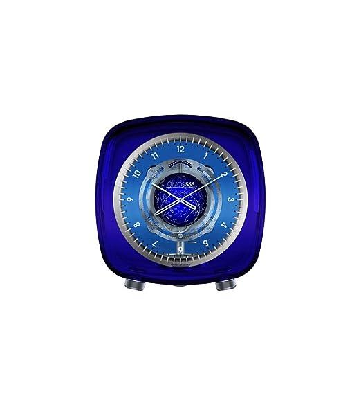 Jaeger LeCoultre Atmos 566 por Marc Newson caja de cristal esfera de color azul de cristal