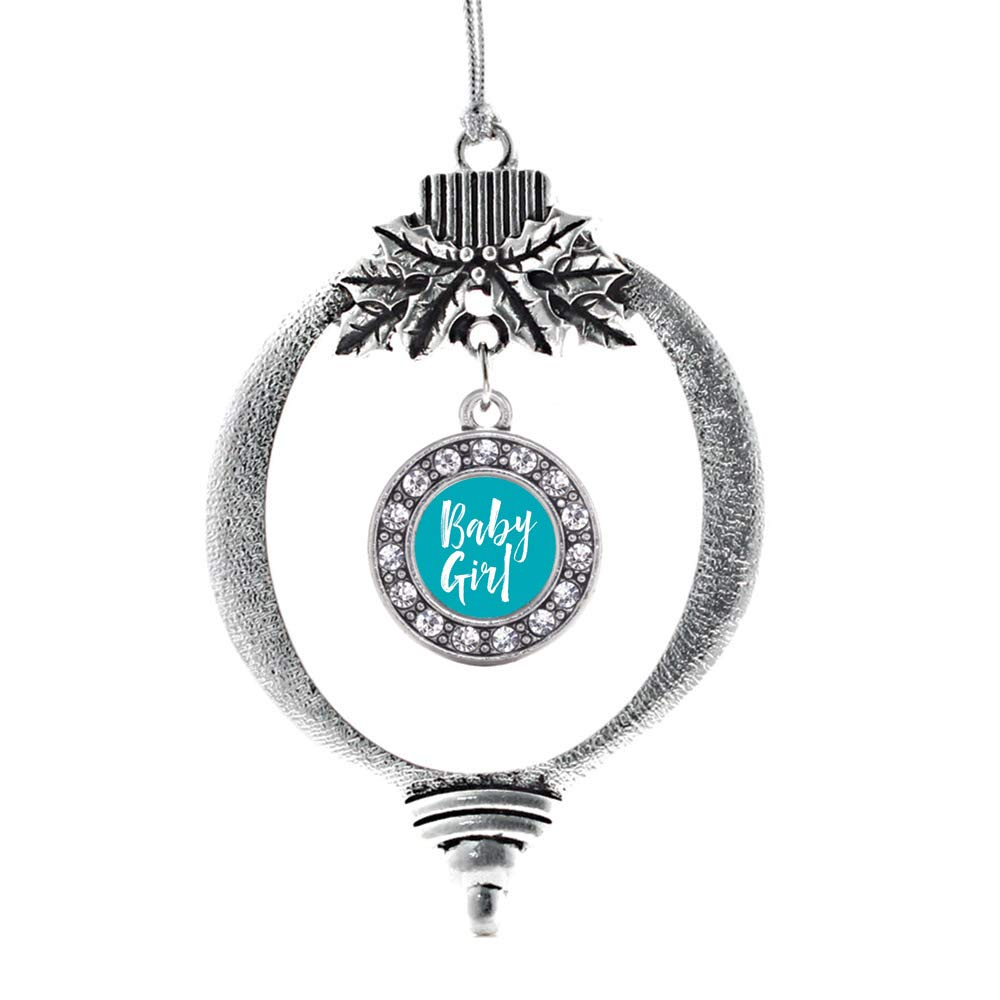 Inspired Silver Silver Circle Charm Holiday Ornaments with Cubic Zirconia Jewelry Adorable Deplorable Charm Ornament