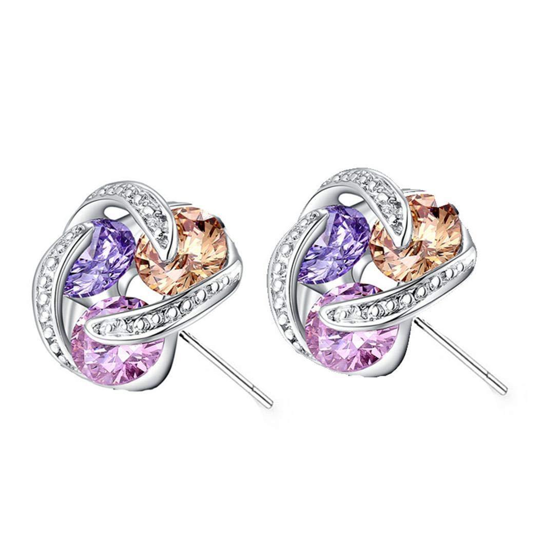 Eroihe Regalo dei monili degli orecchini a bottone dello zircone di modo delle donne Orecchini