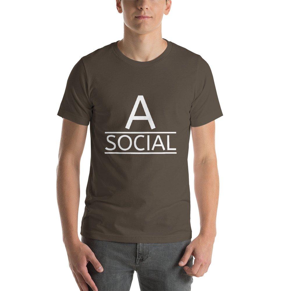 SISL A-Social Short-Sleeve Unisex T-Shirt Black