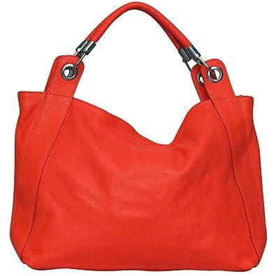 tendance Orange Femme à cuir main Chapeau Sac dXwOWqxBd7